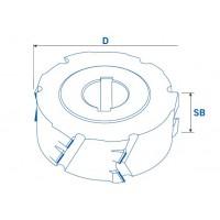 Нерегулируемые фуговальные алмазные фрезы 45° для ЧПУ