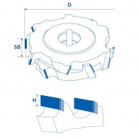 Регулируемые фуговальные алмазные фрезы 45° для ЧПУ