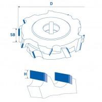 Регулируемые фуговальные алмазные фрезы 54° для ЧПУ