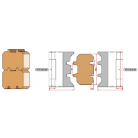 Комплект регулируемых фрез, с механическим креплением ножей, для изготовления бруса строительного двухшипового