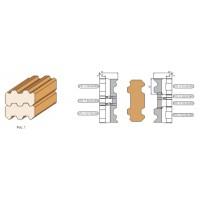Комплект фрез, с механическим креплением ножей, для изготовления бруса дома (120-140; 90; 40мм).