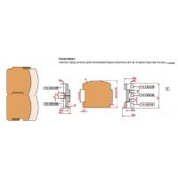 Комплект Фрез с механическим креплением ножей для изготовления бруса строительного одношипового