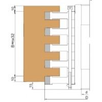 Комплект фрез для зашиповки дверной коробки