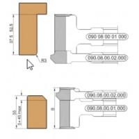Универсальный комплект фрез, с механическим креплением твердосплавных ножей, для обработки дверной коробки и дверного полотна