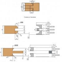 Комплект фрез для обработки дверной обвязки