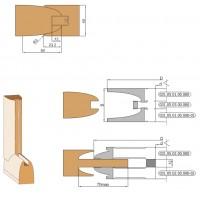 Комплект фрез, напаянных пластинами твердого сплава, для обработки дверной обвязки