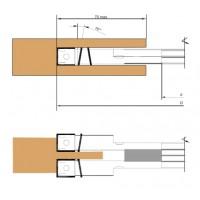 Фреза пазовая составная, с механическим креплением твердосплавных ножей и подрезателей, регулируемая по ширине