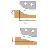 Фреза, с механическим креплением твердосплавных ножей для обработки филенки