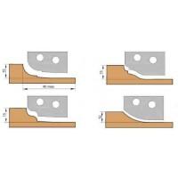 Фреза, с механическим креплением ножей, для обработки 4-х видов филенки