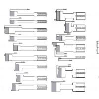 Комплект фрез, с механическим креплением ножей из инструментальной быстрорежущей стали, для изготовления окон с поворотно-откидной фурнитурой (БРУС 78Х86)