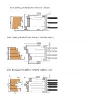 """Комплект фрез, с механическим креплением твердосплавных ножей, для изготовления """"евроокон"""" (сечение бруса 78х86)"""