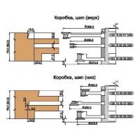 Комбинируемый комплект фрез, с механическим креплением твердосплавных ножей, для изготовления 2-х видов окон с поворотно-откидной фурнитурой (Брус  78х86 и Брус 92х86)