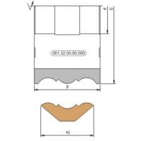 Фреза, напаянная пластинами твердого сплава для обработки фасонных поверхностей реечного плинтуса на четырехсторонних станках.