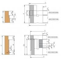 Комплект фрез для сращивания древесины по ширине, регулируемый по высоте сращиваемой детали.