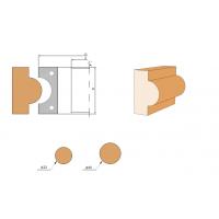 Фреза с механическим креплением быстросменных ножей, для изготовления штапов (D=32; 40)