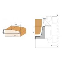 Фреза, напаянная пластинами твердого сплава, для обработки криволинейных мебельных фасадов