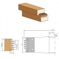 Фреза с механическим креплением ножей для сращивания древесины по длине