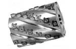 Фреза цилиндрическая сборная с винтовым расположением твердосплавных ножей
