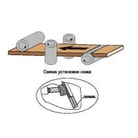 Фреза фуговальная, с механическим креплением ножей из инструментальной быстрорежущей стали