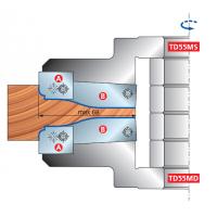 TD55MD - TD55MS Филеночные фрезерные головки