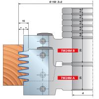 TW24M Комплект регулируемых шипорезных фрезерных головок