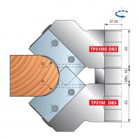 TP31M Многорадиусные фрезерные головки