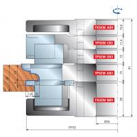 TPSEM Комплекты фрезерных головок для мебельных фасадов (толщина древесины: 22-30 мм)