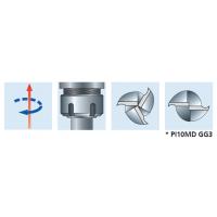 PI10MD Спиральные концевые фрезы для смотровых отверстий со стружколомом