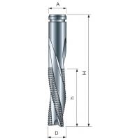 PI04ME Спиральные концевые фрезы Z3 нижхний рез со стружколомом