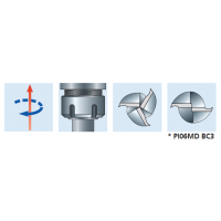 PI06MD Спиральные концевые фрезы для пазов под замок со стружколомом