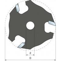 Резцы для пазовой фрезы Z3. Серия 56