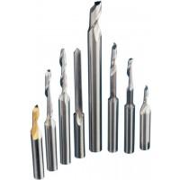 Одноканальные пальчиковые фрезы для алюминия и ПВХ профиля (Hss, Кобальтовое покрытие)
