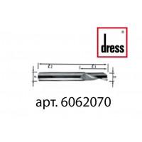 Одноперьевая фреза из твердого сплава Dress 6x20x70x6