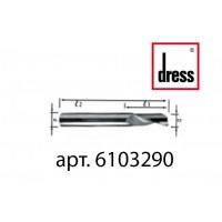 Одноперьевая фреза из твердого сплава Dress 10x32x90x10