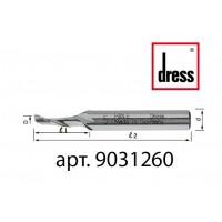 Одноперьевая фреза Dress 3x12x60x8