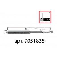 Одноперьевая фреза Dress 5x18/35x80x8 с удлиненной горловиной для легкости подачи