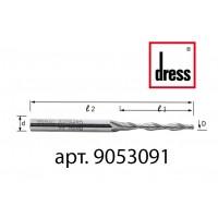 Двухперьевая концевая фреза с пазами под водоотлив Dress 5x30x90x8