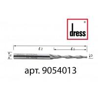 Двухперьевая концевая фреза с пазами под водоотлив Dress 5x40x100x8
