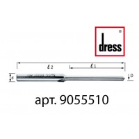 Одноканальная прямая фреза с пазами под водоотлив Dress 5x55x100x8