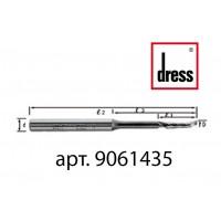 Одноперьевая фреза Dress 6x14/35x80x8 с удлиненной горловиной для легкости подачи