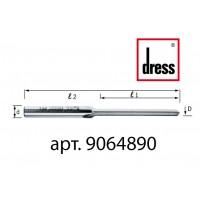 Одноканальная прямая фреза с пазами под водоотлив Dress 6x48x90x8