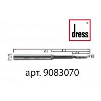 Одноперьевая фреза Dress 8x30/70x100x8 с удлиненной горловиной для легкости подачи