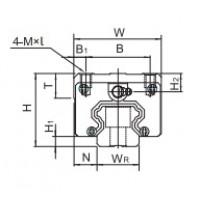 Профильные линейные направляющие HIWIN серии QH