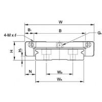 Профильные линейные направляющие HIWIN серии MG