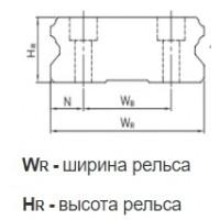 Профильные линейные направляющие Hiwin серия WE