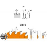 Пилы ультратонкие для аккумуляторного инструмента серии 271-272-226