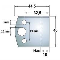 Комплекты бланкет SP ножей и ограничителей для профилирования шириной 40 мм