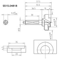 Cверло чашечное ступенчатое 35x10+20x4x70 Z2+2 S=10x38,5