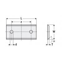 Стандартные двухсторонние пластины    4 режущих кромки