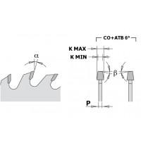 Пилы подрезные конические для форматно-раскроечных станков CHROME